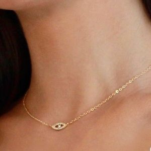 Jewelry - Zirconia Evil Eye Necklace